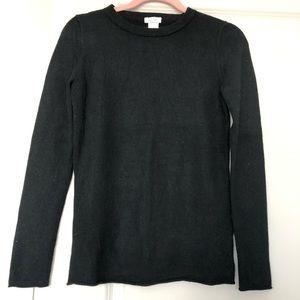 Jcrew Cashmere Black Long Sleeve Tee/Sweater